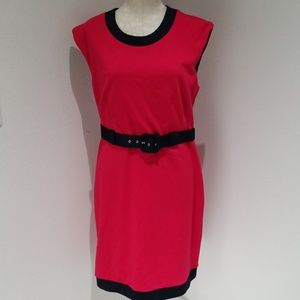 Banana Republic pink & navy blue dress size 12 GUC